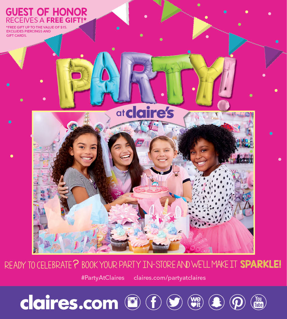 Book a Party at Claire's
