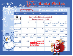 Image of Santa Schedule Days & Times